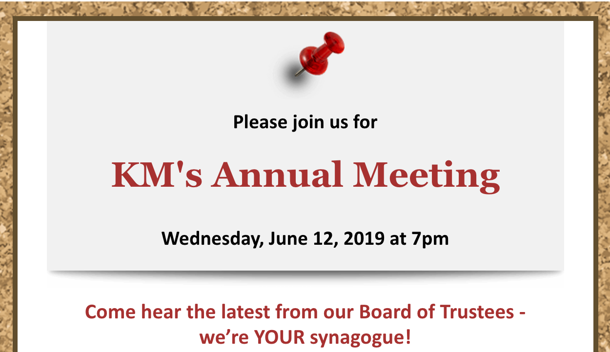 KM's Annual Meeting