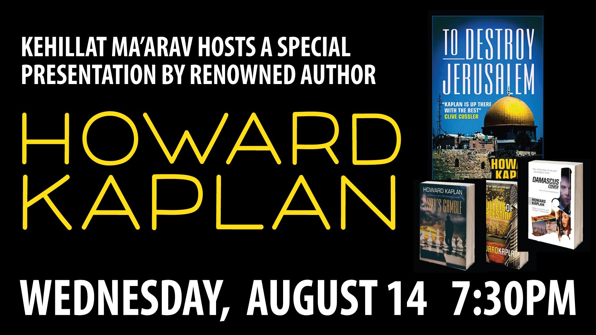 Author Howard Kaplan