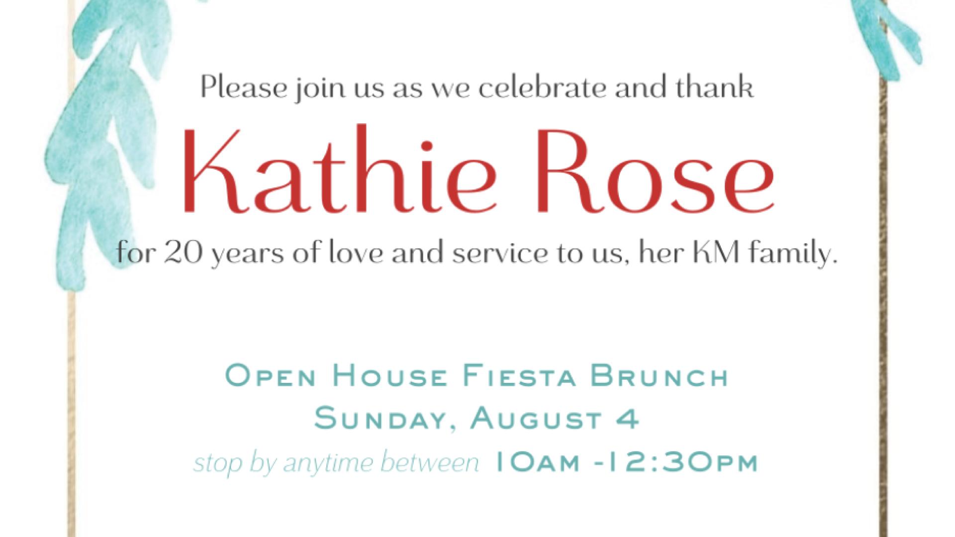 Farewell Brunch for Kathie Rose