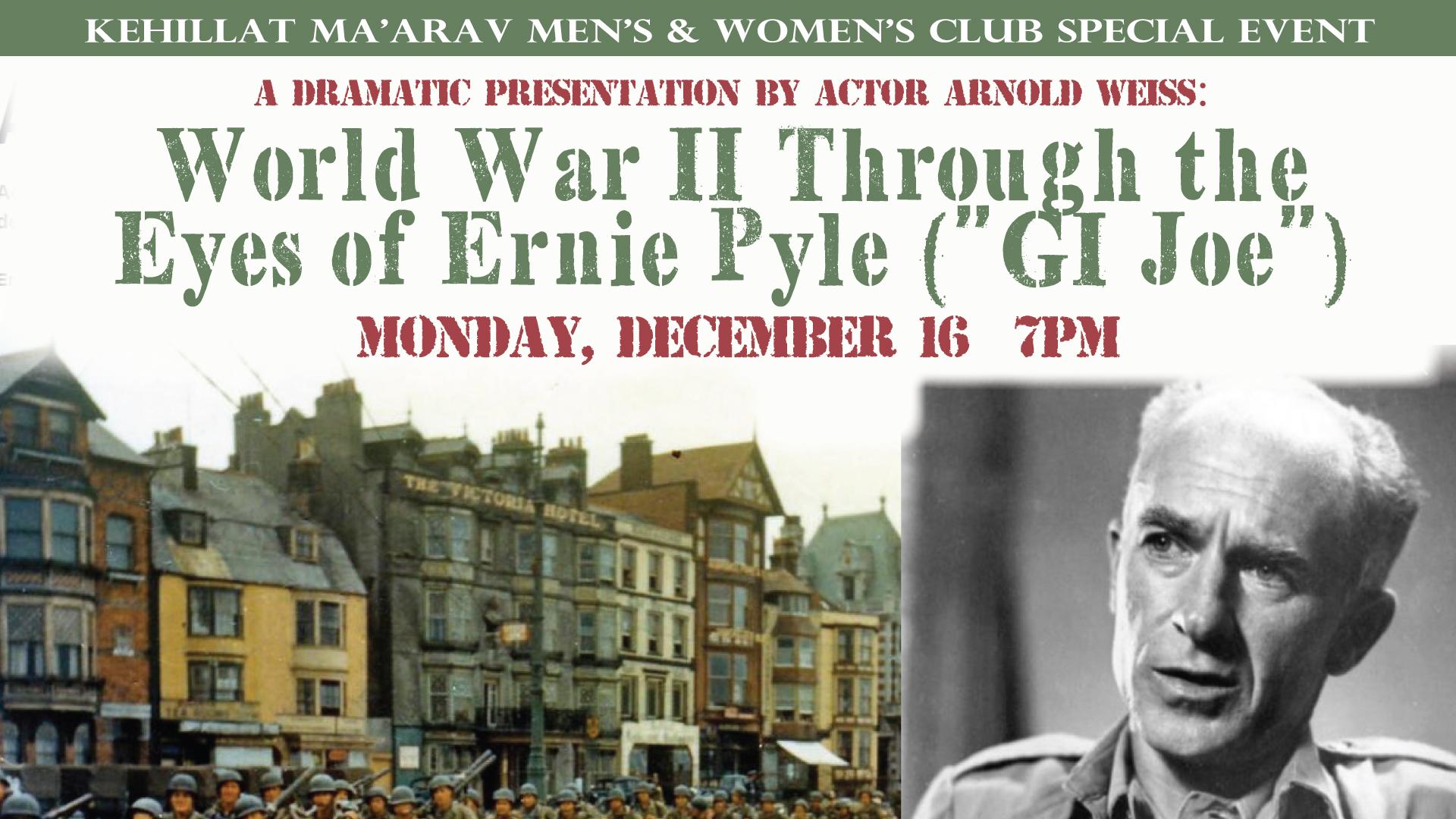 WWII Through the Eyes of Ernie Pyle