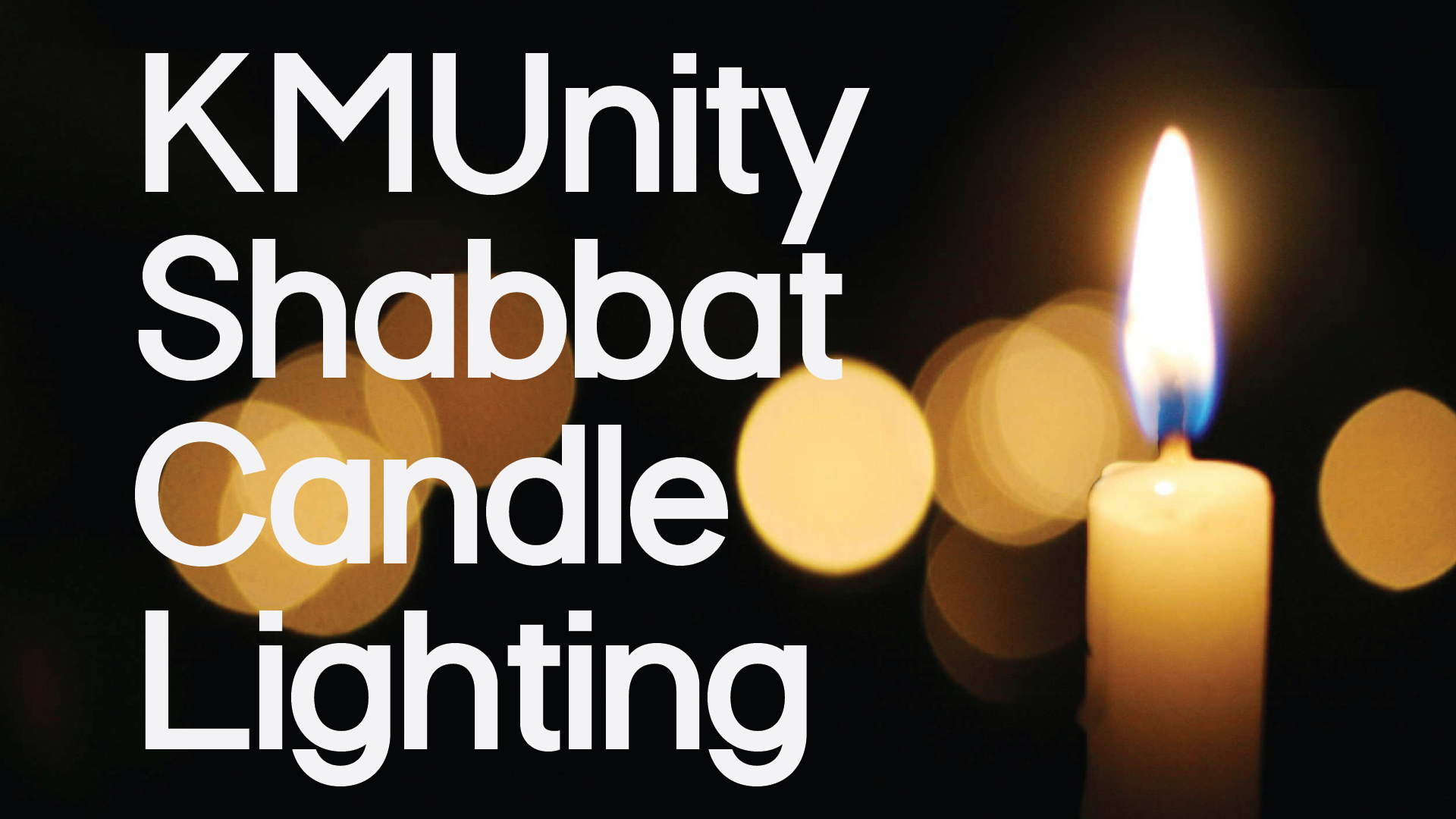 Shabbat Candle Lighting