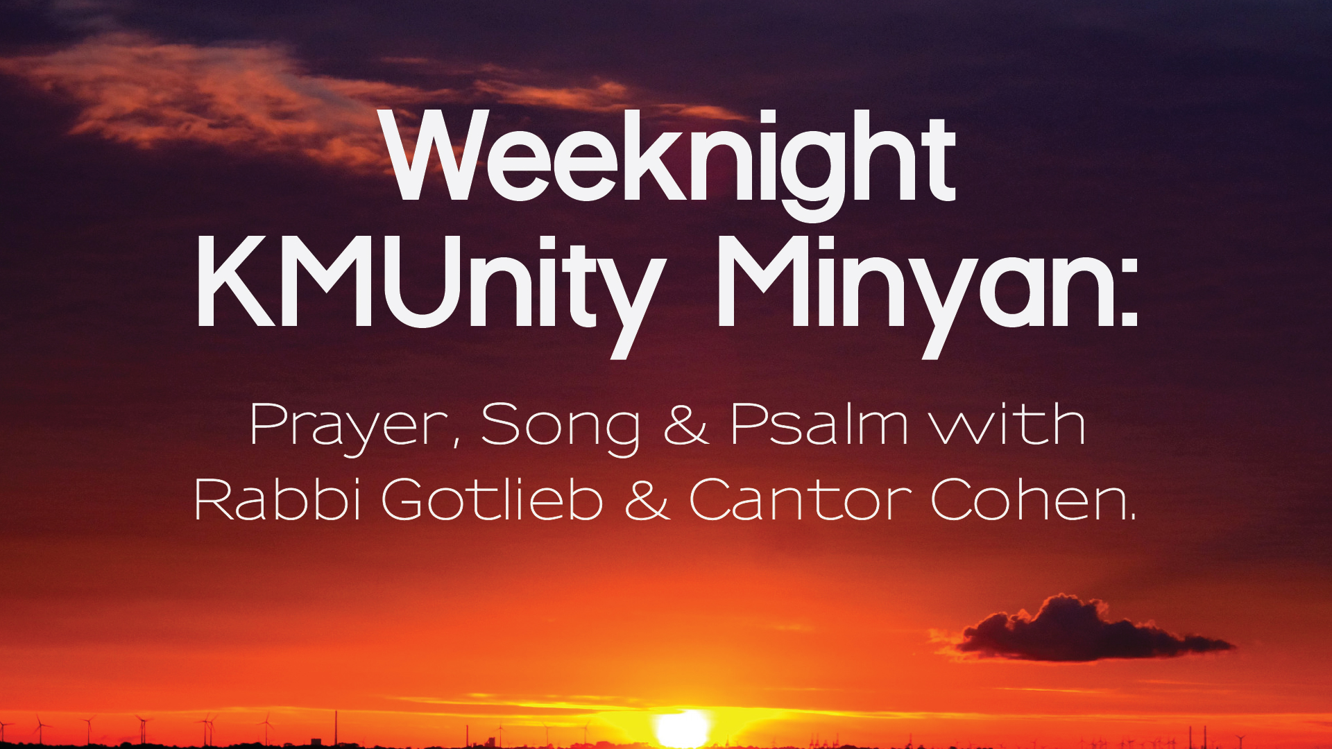 Virtual Weeknight Minyan