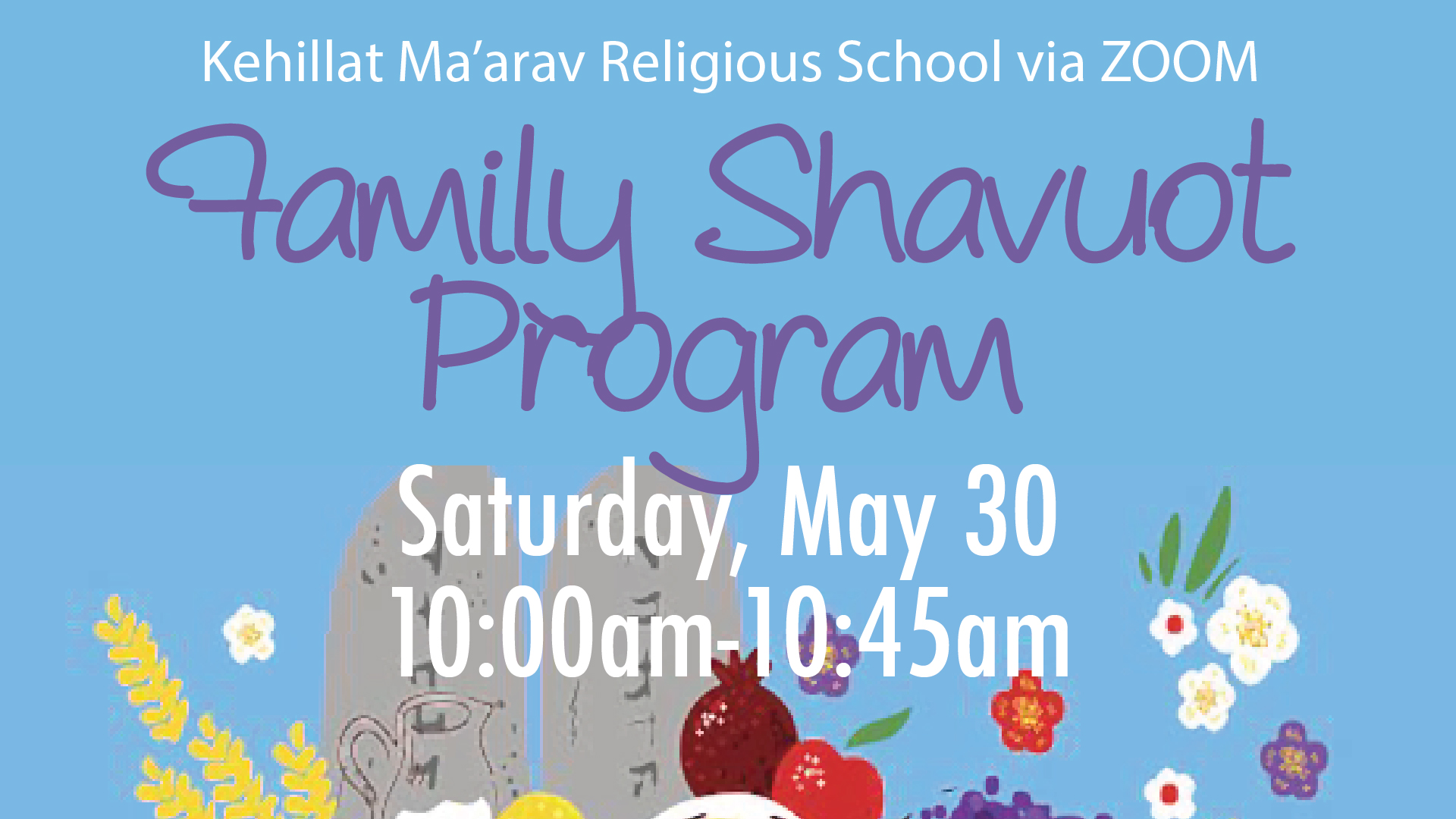 Family Shavuot Program