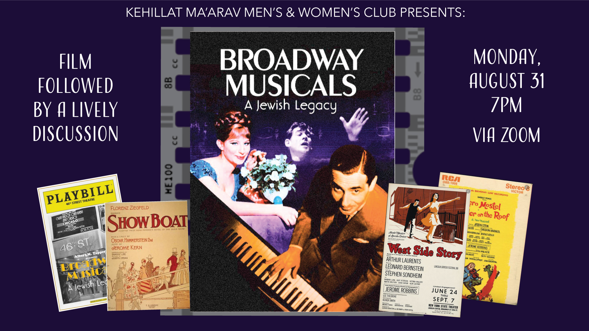 Film & Discussion- Broadway Musicals: A Jewish Legacy