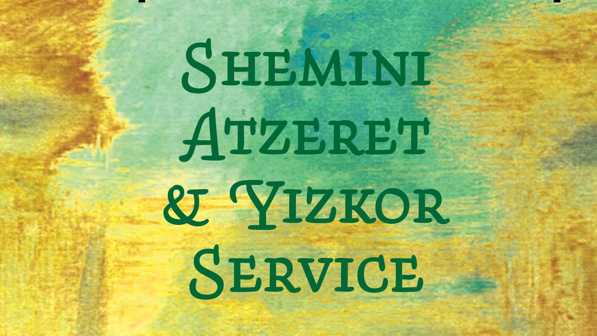 Shemini Atzeret & Yizkor
